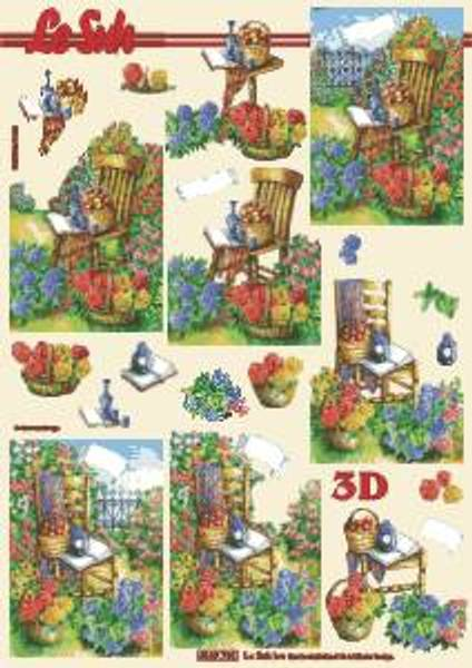 3D ark - Stol i hagen