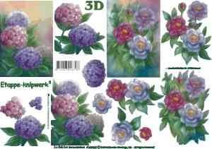 Bilde av 3D ark - Duse blomster