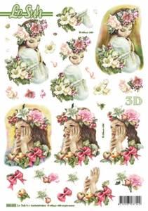 Bilde av 3D ark - utstanset - Jenter