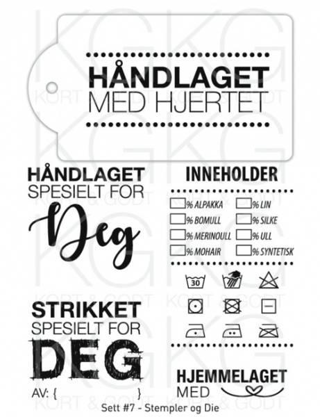 Stempler og Die - sett 7 - Håndlaget 0071