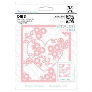 Bilde av Dies 2pcs - Floral Heart