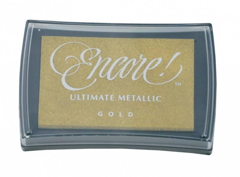 Stempelpute - metallic ink pad 10 Gold L